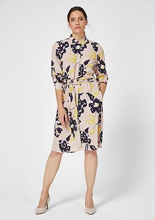 Blusenkleid aus Viskose-Crêpe