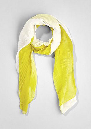 Geplisseerde sjaal met kleurverloop