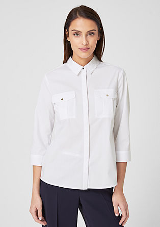 Business blouse with shiny buttons from s.Oliver