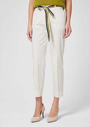 Rita Comfort: pantalon en satin muni d'une ceinture de s.Oliver