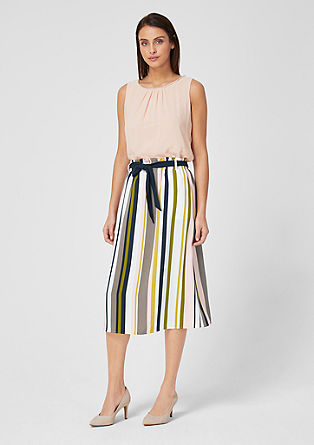 Midi skirt with a paperbag waistband from s.Oliver