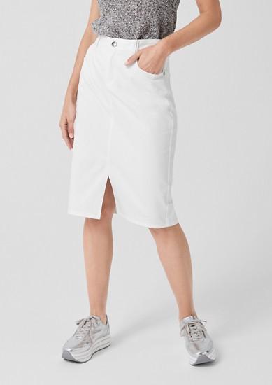 Midi sukně s ozdobným detailem