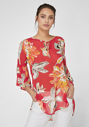 Chiffon tunic with flounce sleeves from s.Oliver