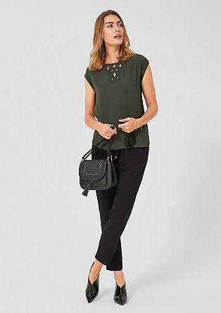 Bluzna srajca z vstavljeno vezenino