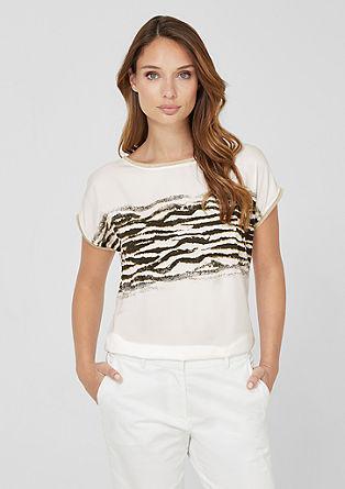 Blusenshirt mit Animal-Print