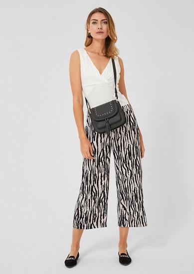 Jupe-culotte: pantalon en crêpe orné d'un motif imprimé de s.Oliver