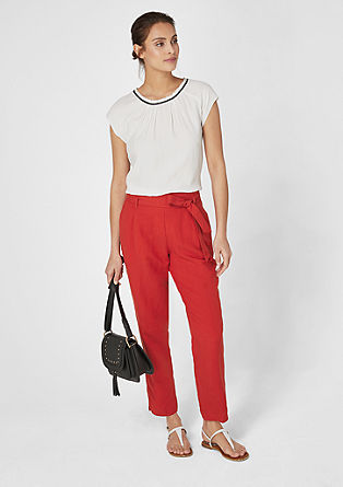 Charlotte Wide: paperbag trousers from s.Oliver