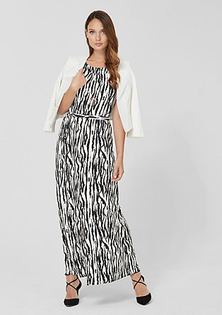 Off-shoulder stretchjurk