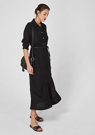 Maxi-jurk van een linnenmix