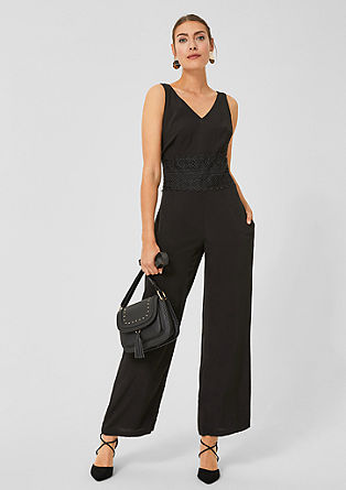 Jumpsuit with a lace trim from s.Oliver
