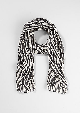 Long scarf with a zebra print from s.Oliver