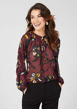 Semi-sheer tunic blouse from s.Oliver