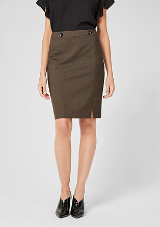 Slim fit end-on-end skirt from s.Oliver
