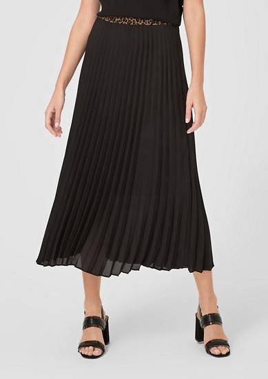 plisovaná sukně s kontrastním pasem
