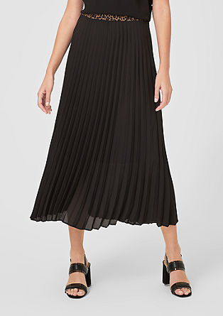 Pleated skirt with a contrast waistband from s.Oliver