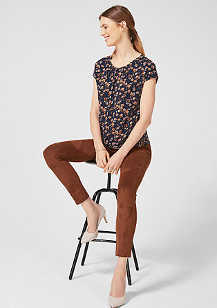 Feminine top with an all-over print from s.Oliver