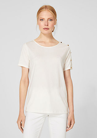 T-shirt with a decorative button placket from s.Oliver