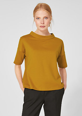 Jersey top with a stand-up collar from s.Oliver