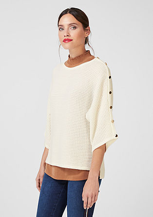 Pulovr ze strukturované pleteniny