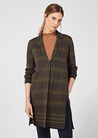Pletený kabát sžakárovým vzorem