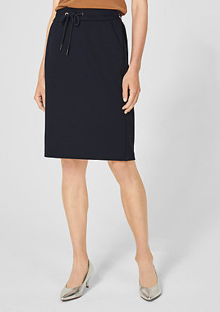 Pencil skirt made of interlock jersey from s.Oliver