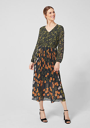 Chiffon dress with pleated skirt from s.Oliver
