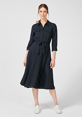 Shirt dress with contrast stitching from s.Oliver