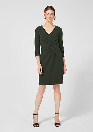 Textured dress with draping from s.Oliver
