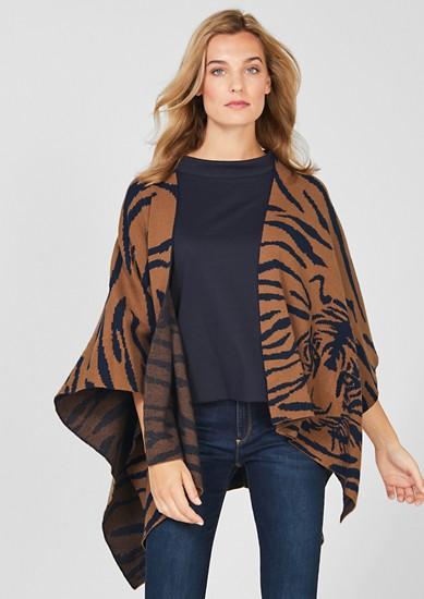 Poncho im Tiger-Design