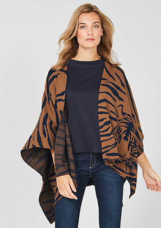 Poncho im Tiger-Design