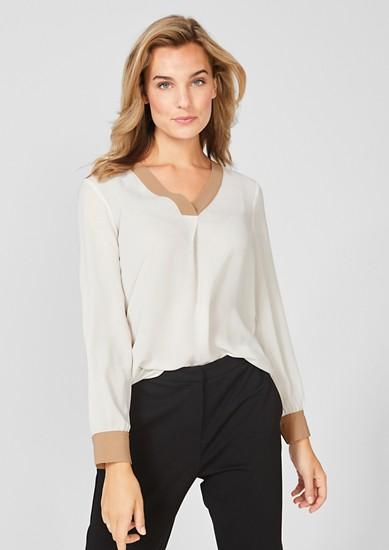 Elegant crêpe long sleeve blouse from s.Oliver