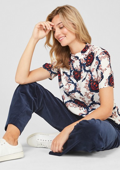 Short sleeve crêpe blouse from s.Oliver