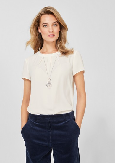 Crêpe blouse with a draped effect from s.Oliver