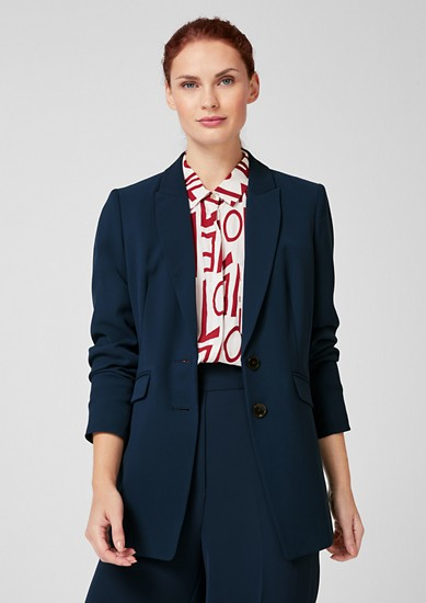 Fitted long blazer from s.Oliver