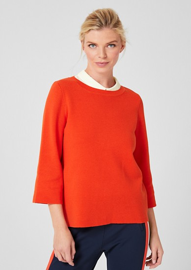 Elegant fine knit jumper from s.Oliver