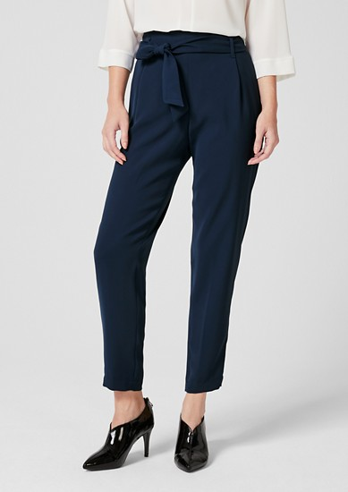 Elegant paperbag trousers from s.Oliver