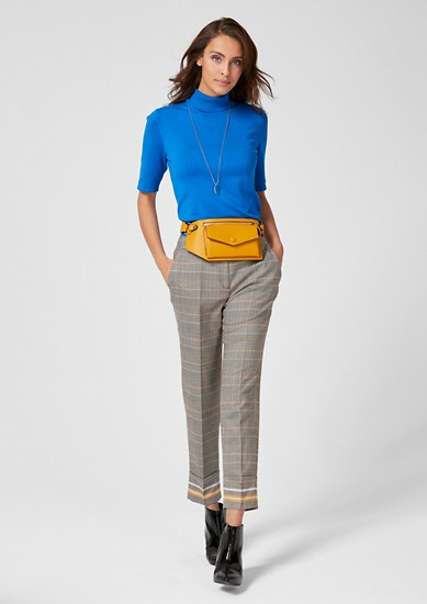 Rita Comfort: Prince of Wales check trousers from s.Oliver