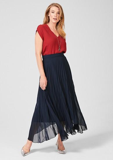 Maxi sukně s plisovanými sklady