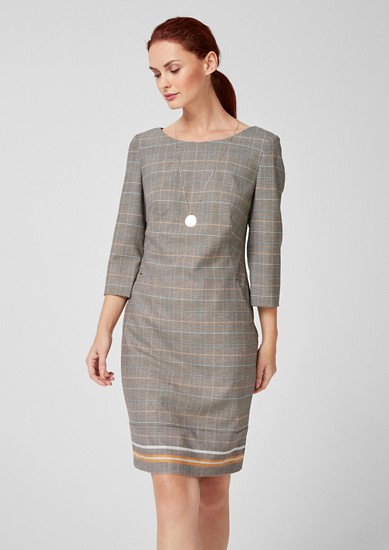 Figurbetontes Glencheck-Kleid