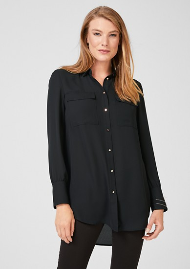 Long crêpe blouse from s.Oliver