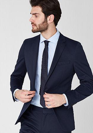 Slim: jersey piqué jacket from s.Oliver