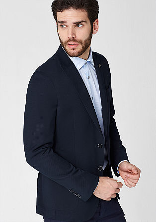 Regular: Tailored jacket with a subtle texture from s.Oliver