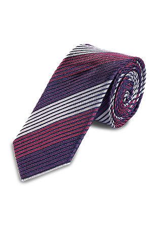 Svilena kravata s poševnimi črtami