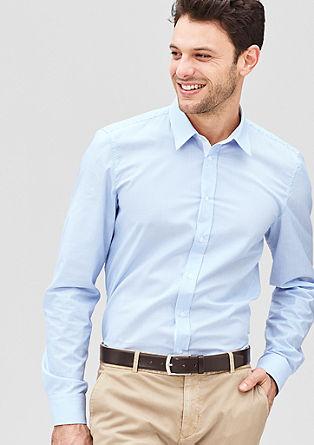 Slim: Schmales Langarmhemd