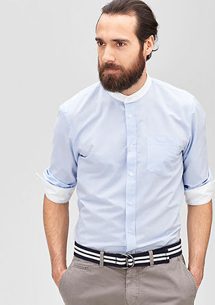 Slim: striped shirt with a stand-up collar from s.Oliver