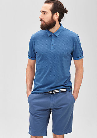 Jersey-Poloshirt mit Minimalmuster