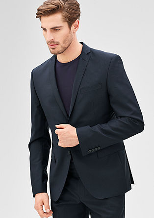 Slim: Fashionable pinstriped jacket from s.Oliver