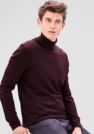 Fine knit polo neck jumper from s.Oliver