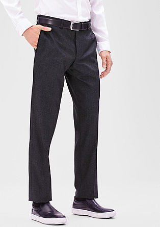 Slim: Twill party trousers from s.Oliver