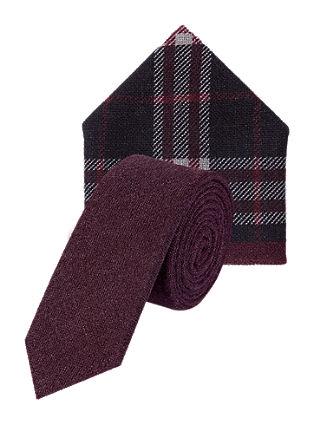 Set Krawatte und Tuch aus Wolle